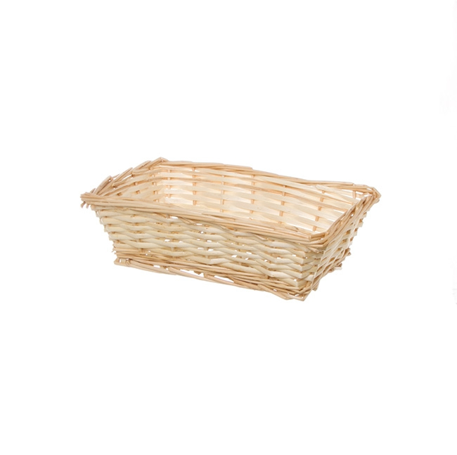 Hamper Tray & Gift Basket - Willow Tray Rectangle Natural (26x17x8cmH)