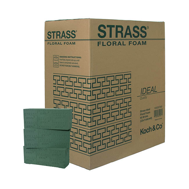 Oasis Floral Foam Bricks - Strass IDEAL Floral Foam 60 Bricks