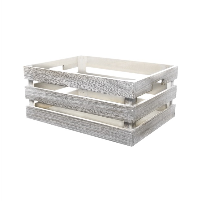 ... Wooden Crates U0026 Boxes   Wooden Storage Crate Set Of 3 Iron Grey  (41x31x19cmH) ...