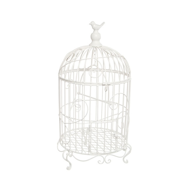 Wedding Birdcage D30x55cmH White
