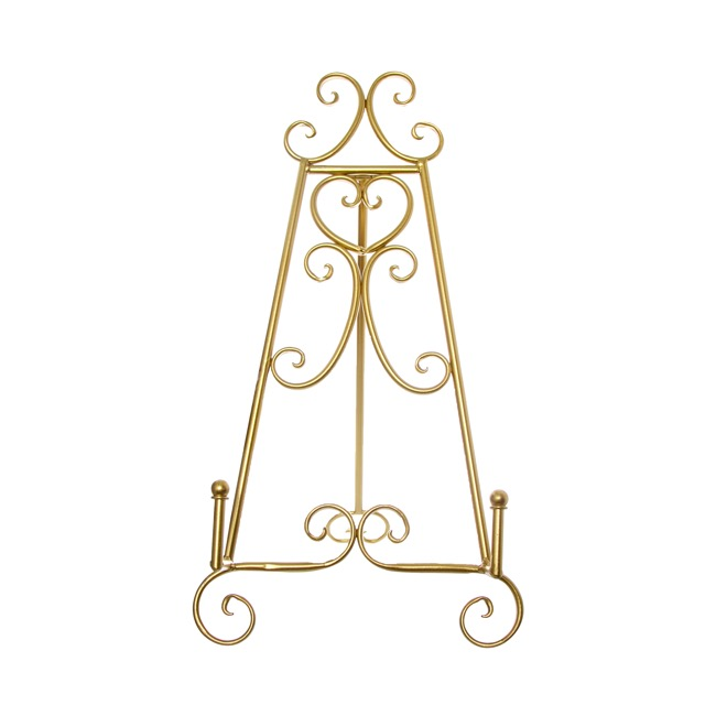 Wedding Easel - Easel Elegant Table Size 23Wx28Dx46cmH Gold