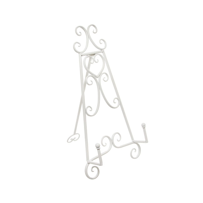Wedding Easel - Easel Elegant Table Size 23Wx28Dx46cmH White