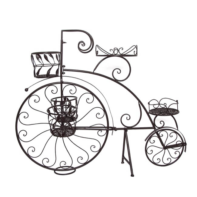 Penny Farthing Bicycle Planter Rustic Brown 114x25x86cmh