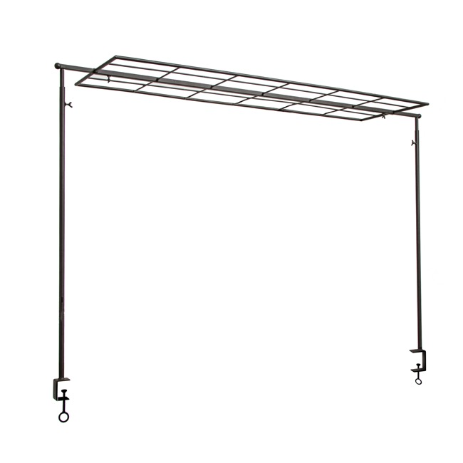 Reception Decoration - Metal Table Arch with Display Panel Extendable (122.5x98cmH)