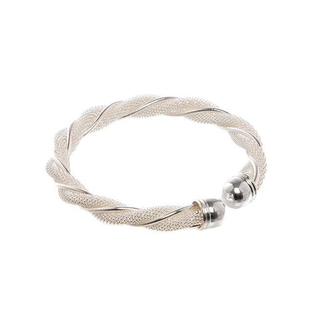 Napkin Ring Rope Design 16mmW Silver