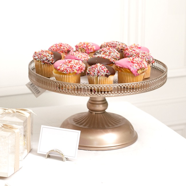 Cake Stands - Victoria Metal Cake Stand Rose Gold (33x18cmH)