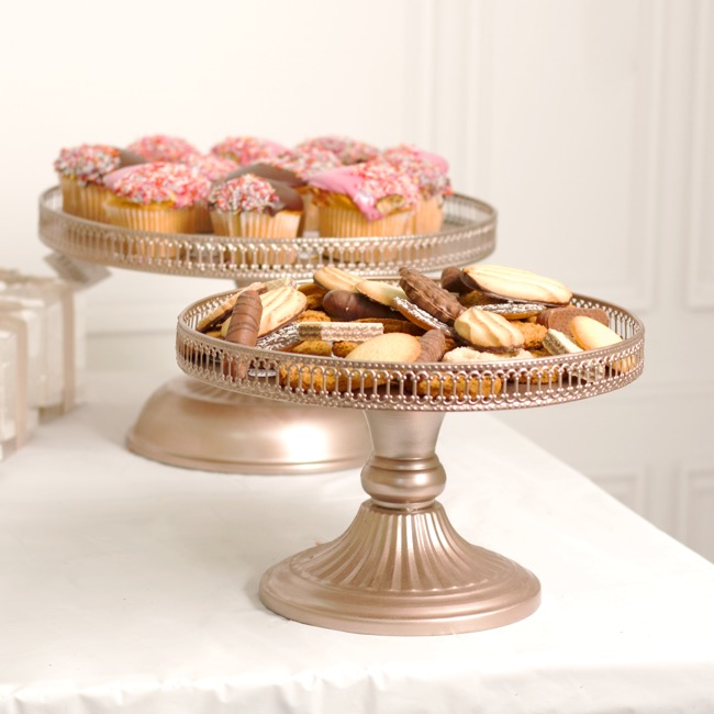 Cake Stands - Victoria Metal Cake Stand Rose Gold (28x17cmH)
