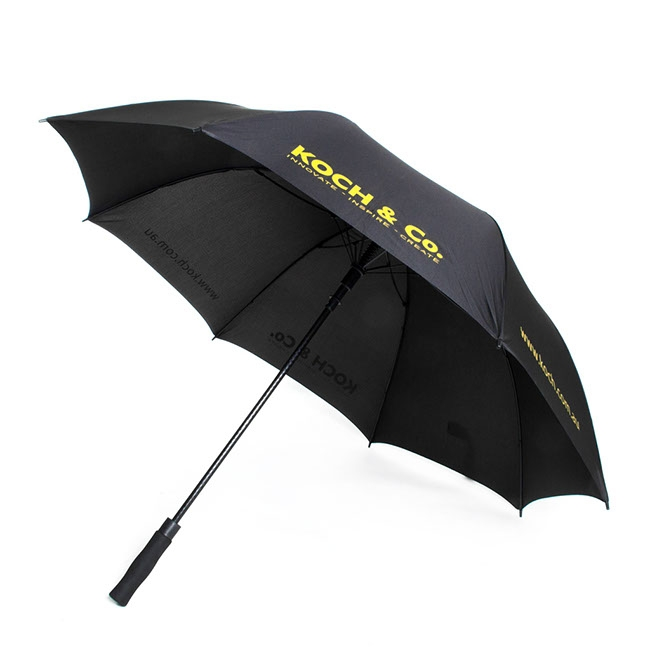 Umbrella Large w/Koch Logo (150cmD) Black