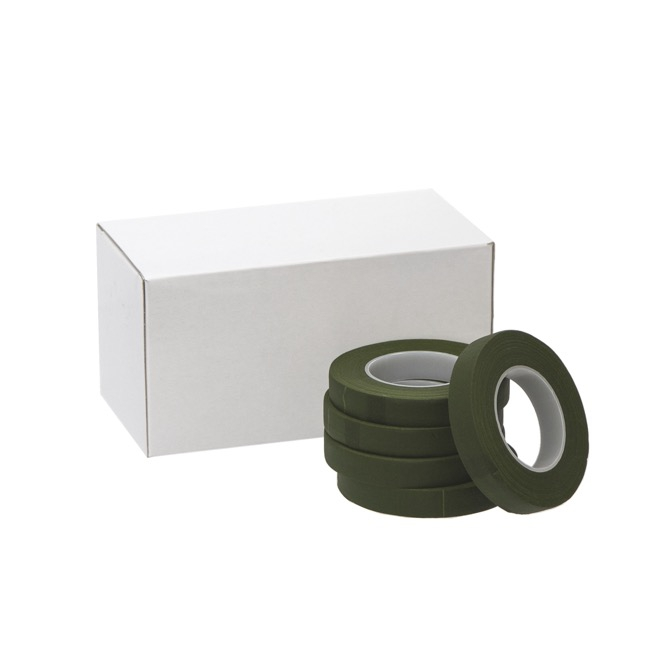 Floral Tapes - ECO Paper Floral Tape Single Dark Green (12.5mm x 27m)