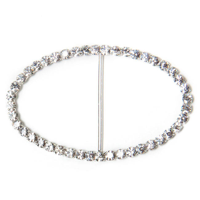 Corsage Buckle Diamante Oval (50x80mm)