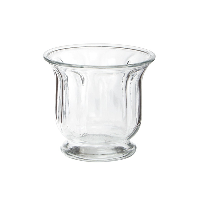 Glass Footed Vase Clear (14.5x12.5cmH)