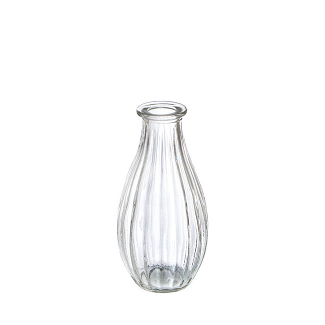 Glass Vintage Bottle Cafe 7x14.5cmH Clear