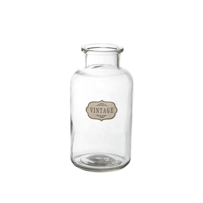 Glass Village Bottle Celine Medium Clear (10x19.5cmH)