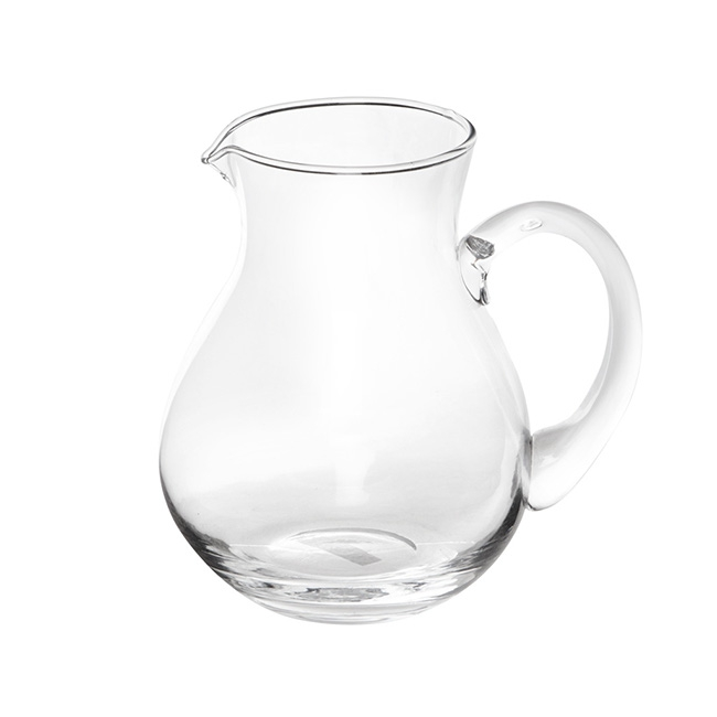 Glass Flower Jug Clear (14.8Dx19cmH)