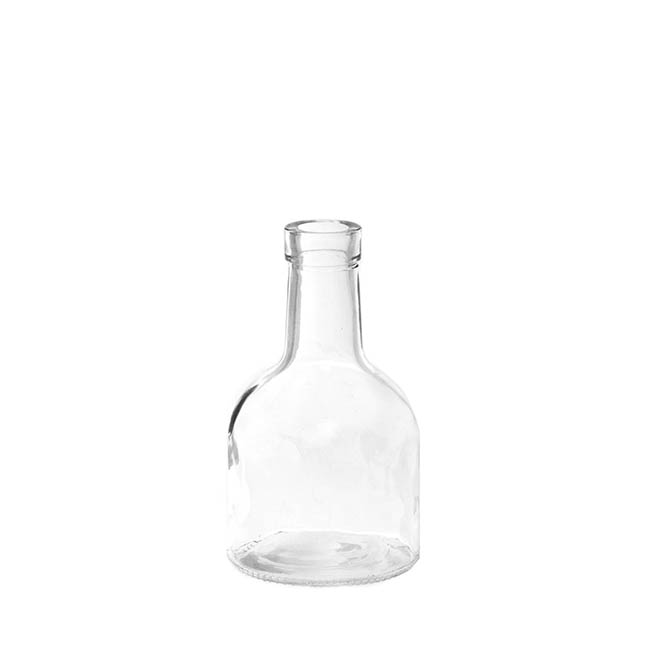 Glass Bottle Vase Clear (TD:3.3xBD:8.4x15cmH)