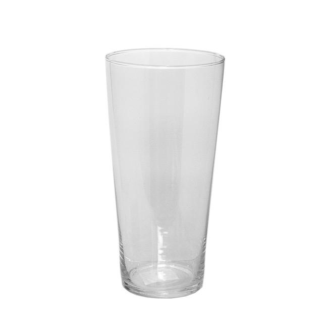 Glass Promo Miranda Conical Vase Large Clear 15x30cmh