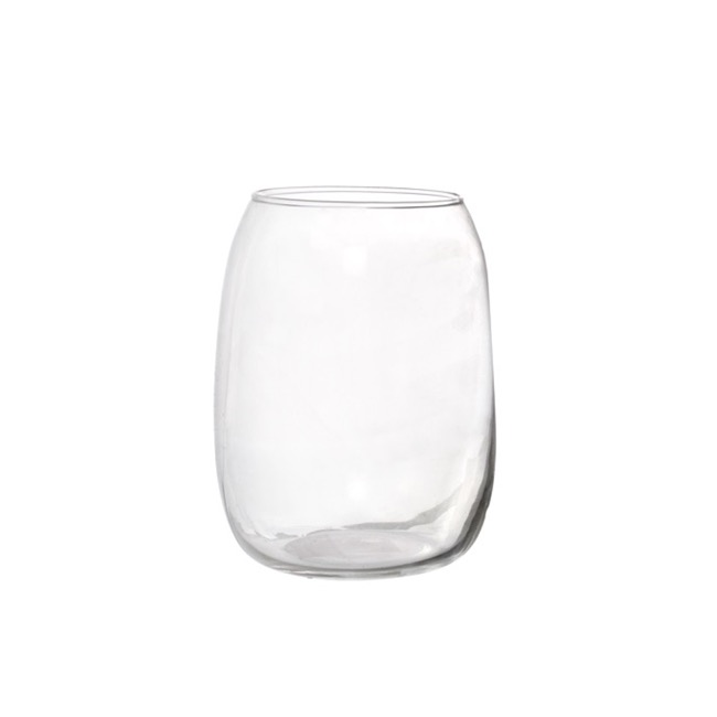 Recycled Style & Coloured Vases - Glass Becky Vase Clear (12.5x16.5cmH)