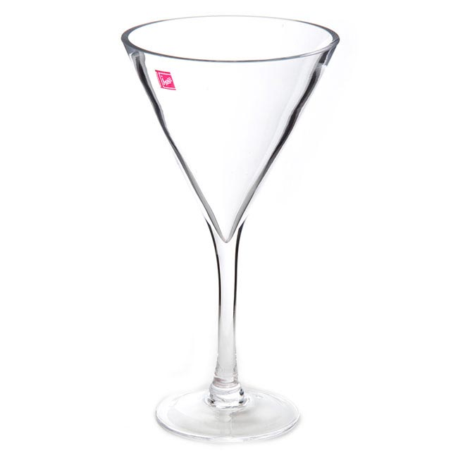 Glass Martini 16Dx30cmH Clear