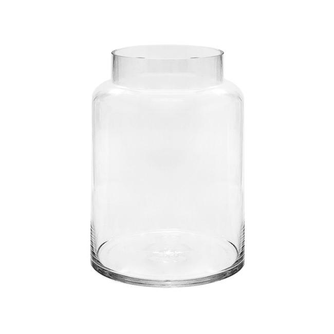 Glass Squat Dome Vase 13tdx18bdx20cmh Clear