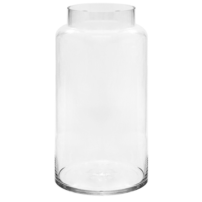 225 & Glass Dimi Squat Dome Vase Extra Lrg (13TDx18BDx40cmH) Clear