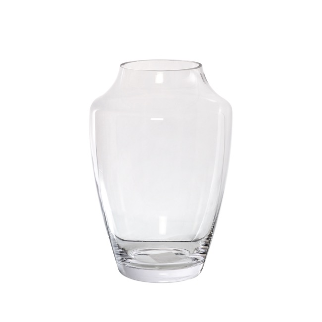 Clear Glass Vases - Glass Luna Vase (16Dx25cmH) Clear
