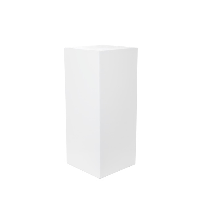 Fibreglass Plinth Square Gloss White (32x32x71cmH)