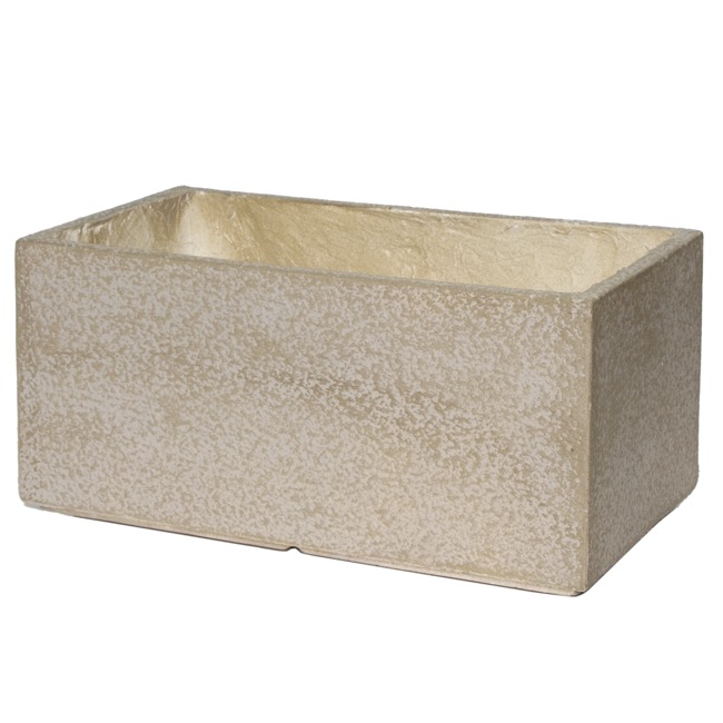 Fibreclay Pots & Planters - Fibreclay Trough Rectangle Beige (56x37x28cmH)