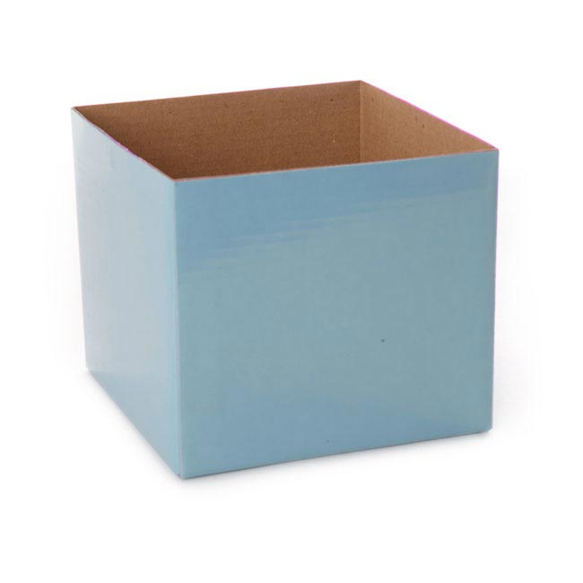 Posie Flower Box Mini - Posy Box Mini Baby Blue (13x12cmH)