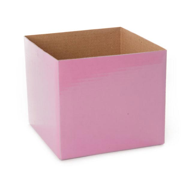 Posie Flower Box Mini - Posy Box Mini Baby Pink (13x12cmH)