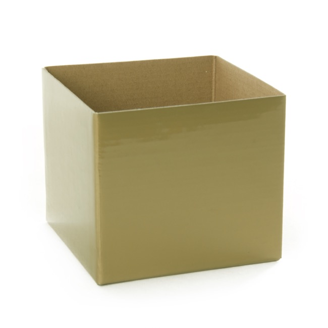 Posie Flower Box Mini - Posy Box Mini Gold (13x12cmH)