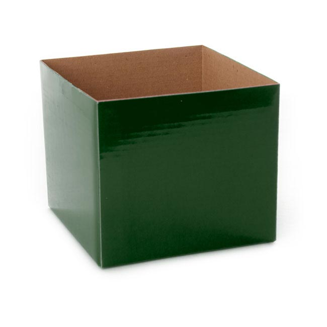 Posie Flower Box Mini - Posy Box Mini Hunter Green (13x12cmH)