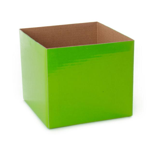 Posie Flower Box Mini - Posy Box Mini Lime Green (13x12cmH)