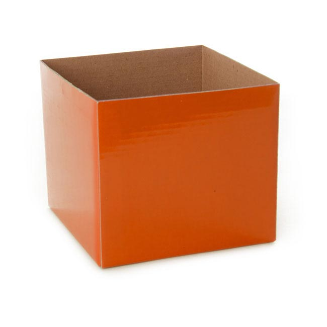 Posie Flower Box Mini - Posy Box Mini Orange (13x12cmH)