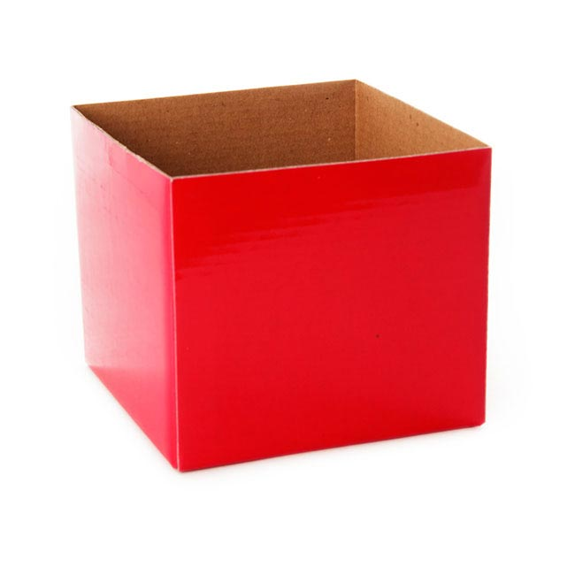 Posie Flower Box Mini - Posy Box Mini Red (13x12cmH)