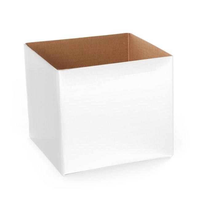 Posie Flower Box Mini - Posy Box Mini White (13x12cmH)