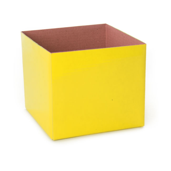 Posy Box Mini Yellow (13x12cmH)