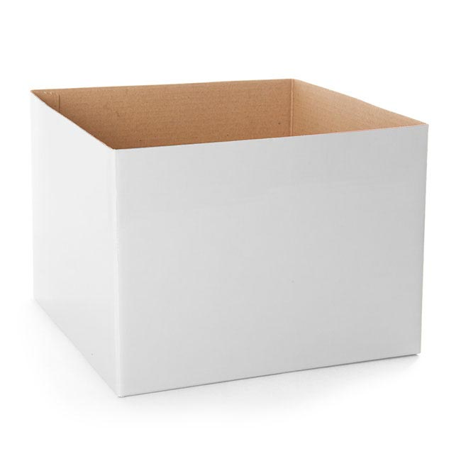 Posie Flower Box Medium - Posy Box Economy Medium White (19x14cmH)