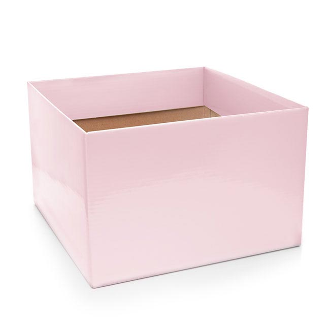 Posie Flower Box Large - Posy Box Large Baby Pink (22x14cmH)