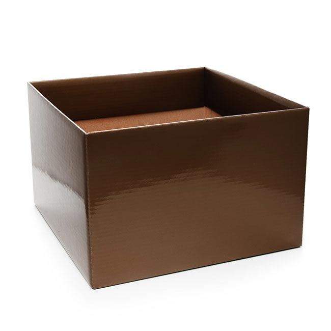 Posie Flower Box Large - Posy Box Large Chocolate (22x14cmH)