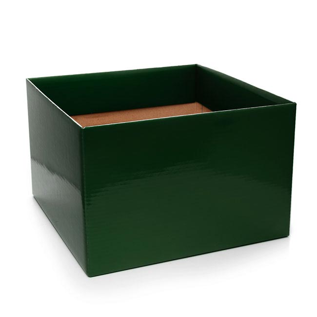 Posie Flower Box Large - Posy Box Large Hunter Green (22x14cmH)