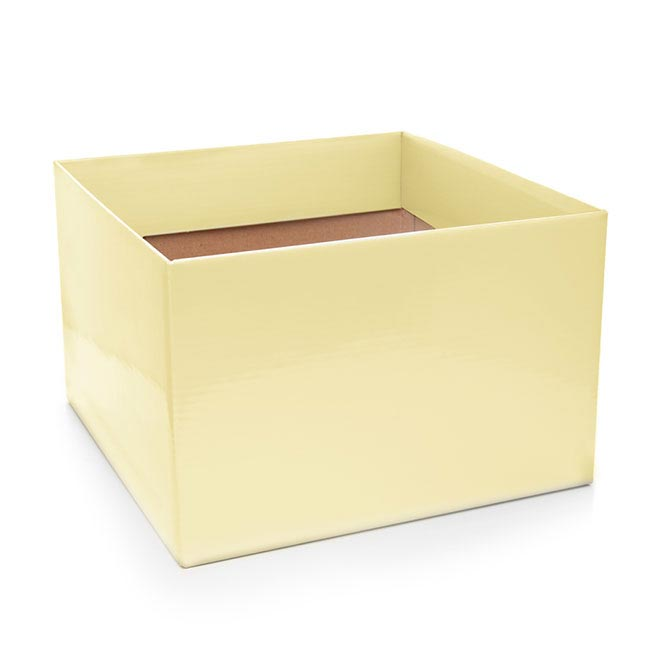 Posie Flower Box Large - Posy Box Large Ivory (22x14cmH)