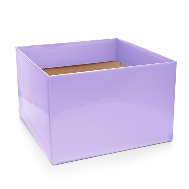 Posie Flower Box Large - Posy Box Large Lavender (22x14cmH)