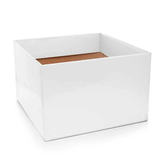 Posie Flower Box Large - Posy Box Large White (22x14cmH)