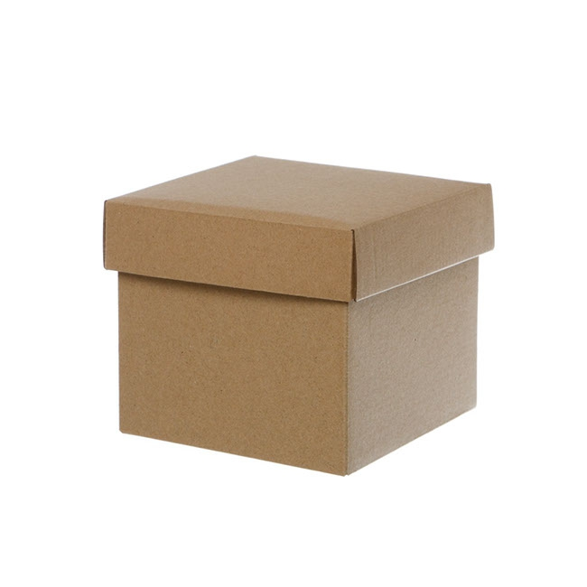 Gift Box with Lid Mini Flat Pack Matte Kraft (13x12cmH)