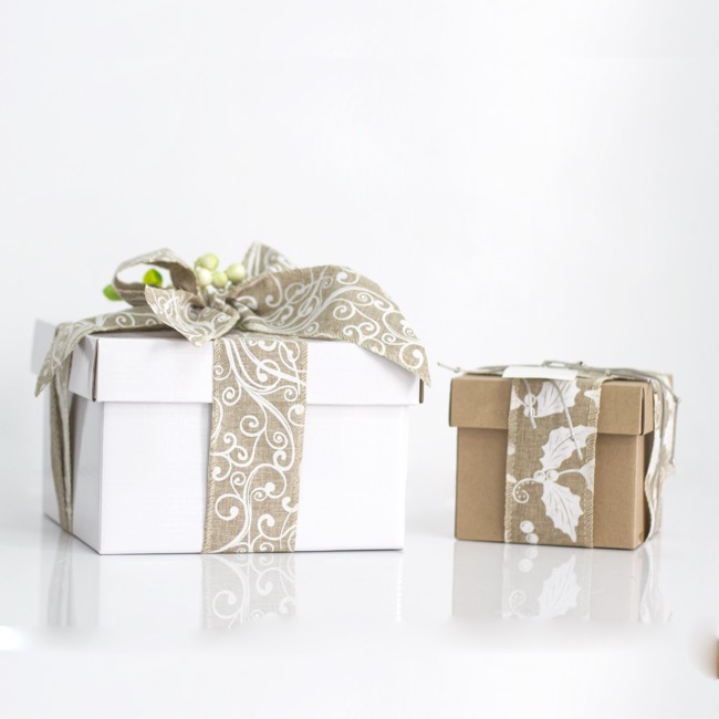 Gift Box and Lid - Gift Box with Lid Mini Flat Pack Matte Kraft (13x12cmH)
