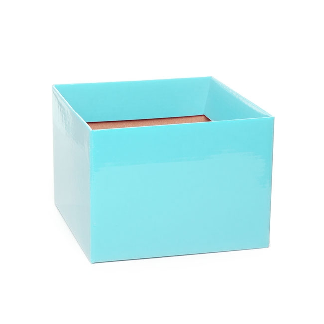 Posy Box Medium No.6 with Flap Baby Blue (16x16x12cmH)