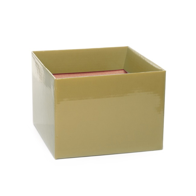 Posy Box Medium No.6 with Flap Gold (16x16x12cmH)
