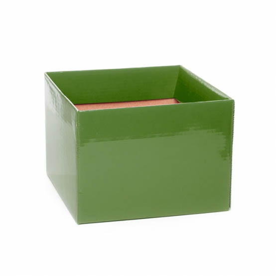 Posie Flower Box Medium - Posy Box Medium No.6 with Flap Moss (16x16x12cmH)