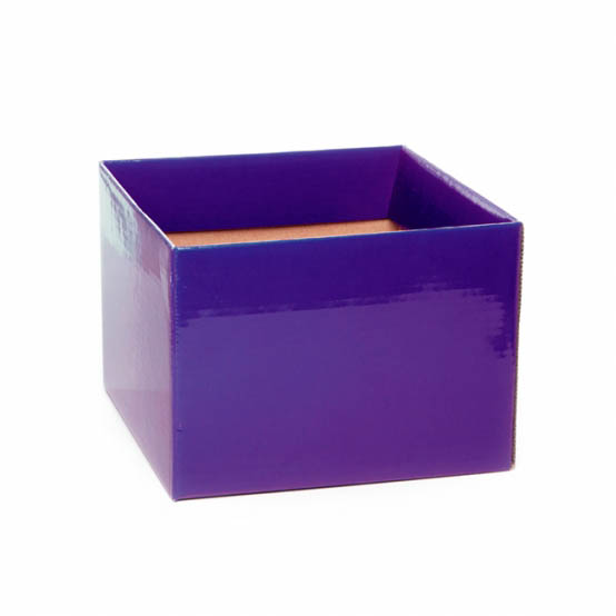 Posie Flower Box Medium - Posy Box Medium No.6 with Flap Violet (16x16x12cmH)