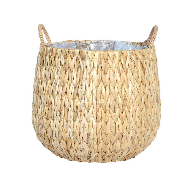 Flower Planter Pots - Fiji Seagrass Planter Natural (25Dx27cmH)